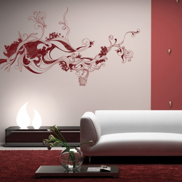 wandtattoo fantasieblume. Black Bedroom Furniture Sets. Home Design Ideas