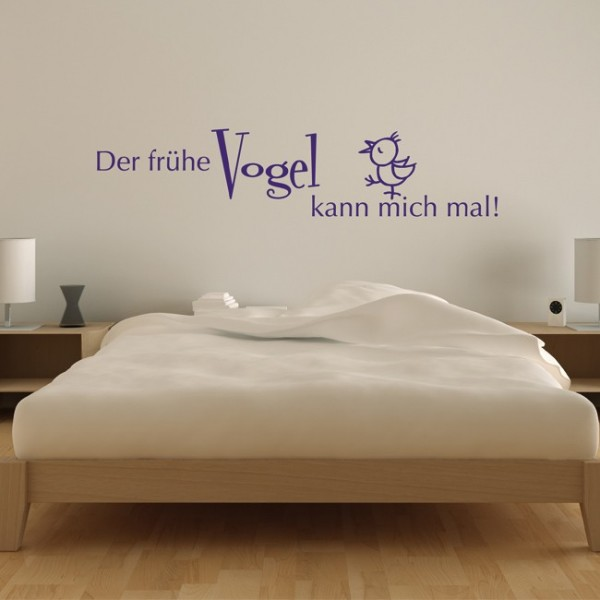 wandtattoo der fr he vogel kann mich mal pictures to pin. Black Bedroom Furniture Sets. Home Design Ideas
