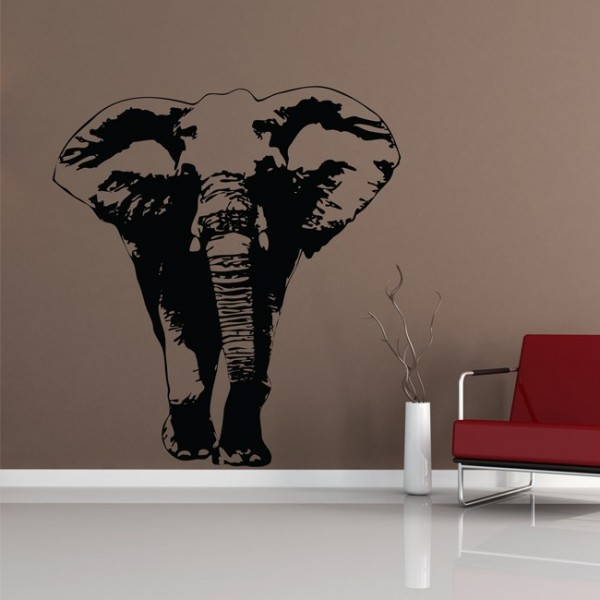 wandtattoo elefant. Black Bedroom Furniture Sets. Home Design Ideas