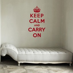 Keep calm and carry on Wandtattoo