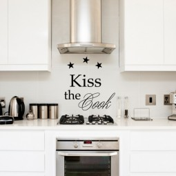 Kiss the cook - Wandtattoo